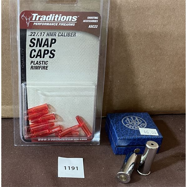 SNAP CAPS 410 AND .22/17