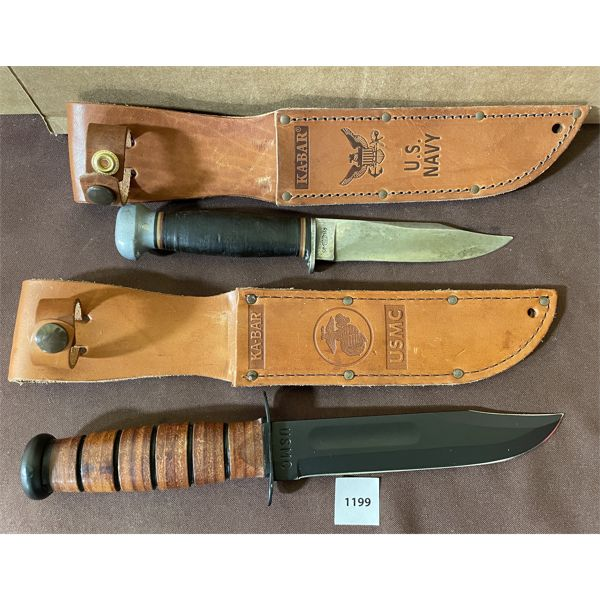 LOT OF 2 KNIVES - INCLUDES NEW KA-BAR