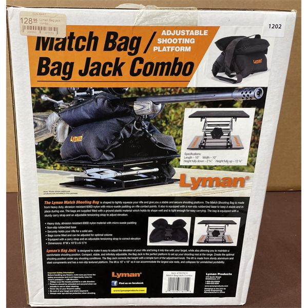 MATCH BAG/BAG JACK COMBO ADJUSTABLE SHOOTING PLATFORM