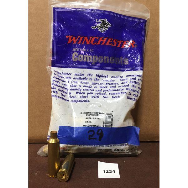 BRASS: 29X WINCHESTER 270 WSM- NEW