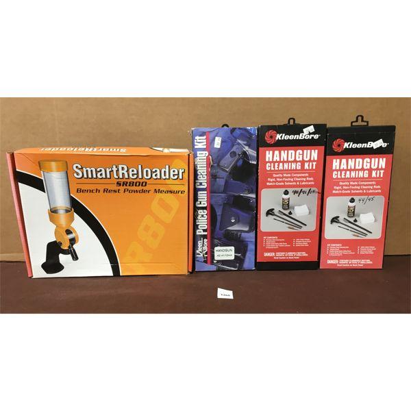 POWDER MEASURE & 3X HANDGUN CLEANING KITS