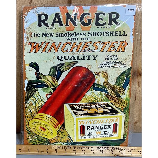 WINCHESTER - RANGER TIN REPRO SIGN