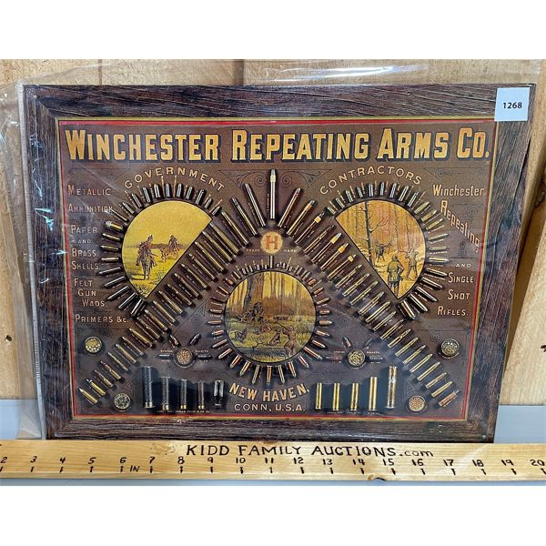 WINCHESTER REPEATING ARMS TIN REPRO SIGN