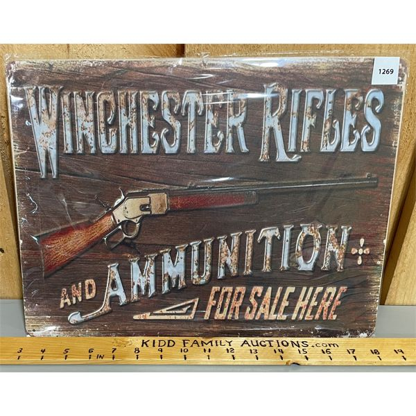 WINCHESTER TIN REPRO SIGN