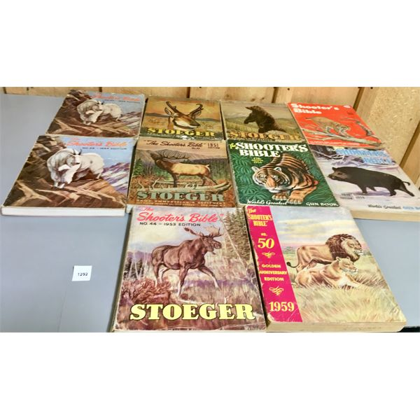 LOT OF 10 - 1950's & 60's SHOOTER'S BIBLE PUBLICATIONS