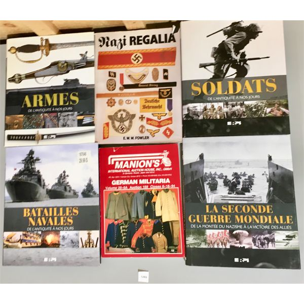 LOT OF 6 - MILITARY COFFEE TABLE BOOKS