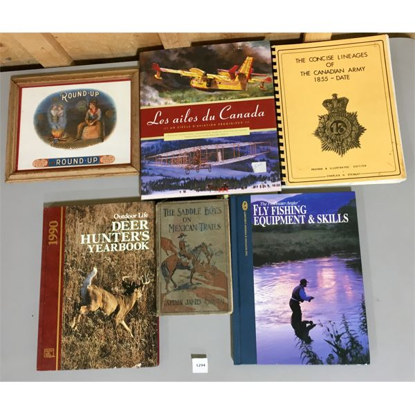 LOT OF 5 - MISC HUNTING / FISHING / MILITARY PUBLICATIONS