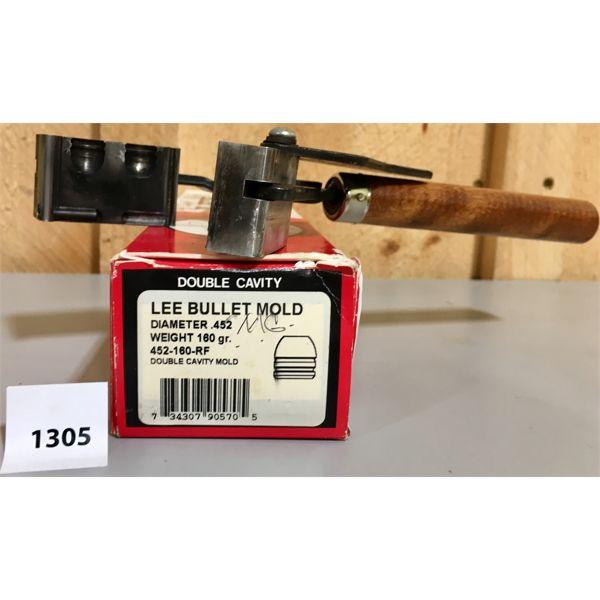 LEE BULLET MOULD - 2 CAVITY - .45 CAL