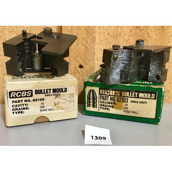 LOT OF 2 - RCBS - .45 & .58 CAL BULLET MOULDS