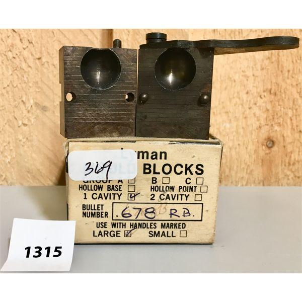 LYMAN .68 CAL ROUND BULLET MOULD