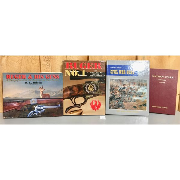 LOT OF 4 - REFERENCE BOOKS - RUGER