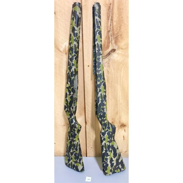 LOT OF 2 - SYNTHETIC CAMO STOCKS - AS NEW