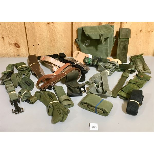 JOB LOT - MISC MILITARY CANVAS / LEATHER ACCESSORIES