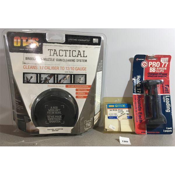 GUN CLEANING KIT AND BB GUN MAGS