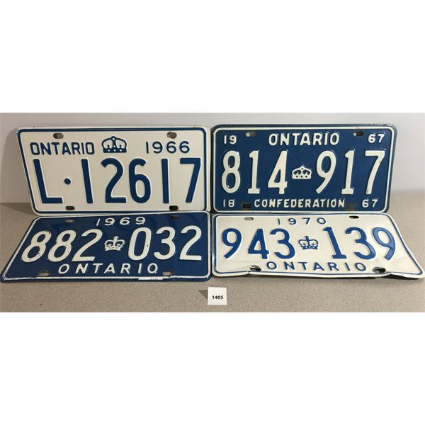 LOT OF 4 LICENSE PLATES