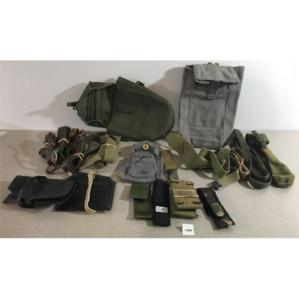 MILITARY SLINGS & CANVAS POUCHES LOT