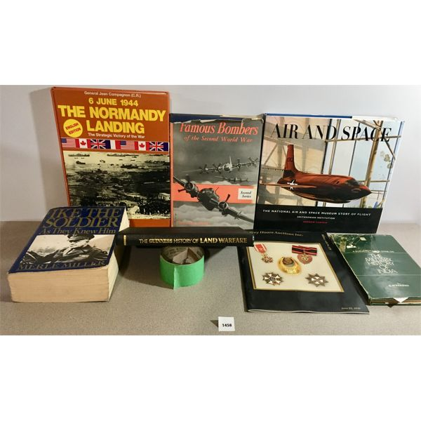 LOT OF 7 MILITARY/ WAR RELATED BOOKS