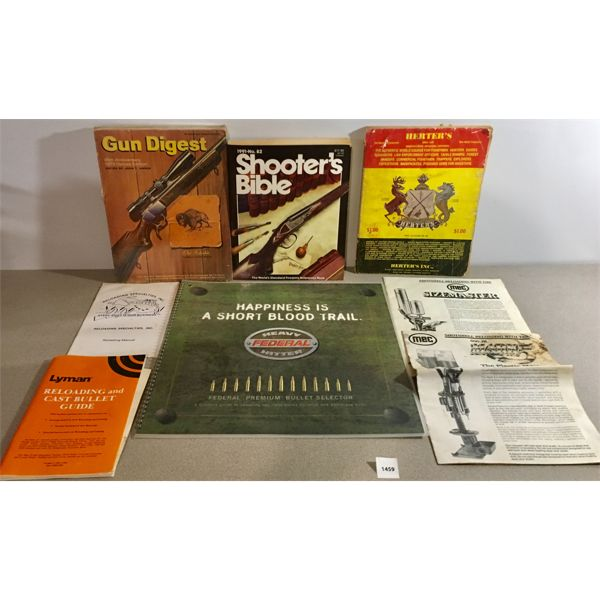 LOT OF 8X FIREARMS RELATED LITERATURE