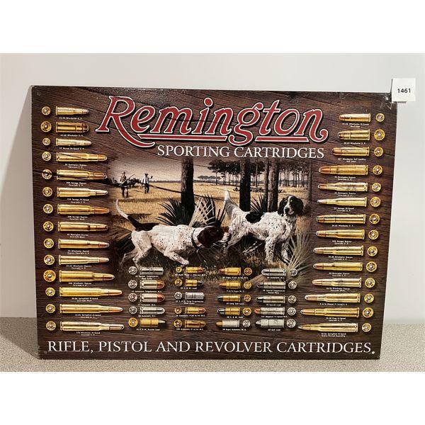 REMINGTON SPORTING CARTRIDGES TIN SIGN- REPRO