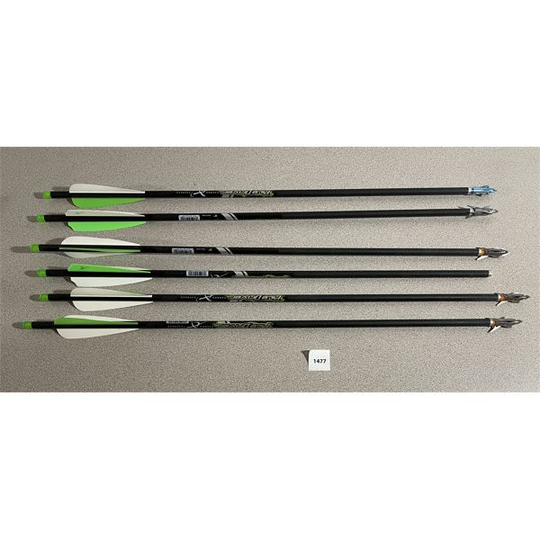 """LOT OF 6- 22"""" CROSSBOW BOLTS"""