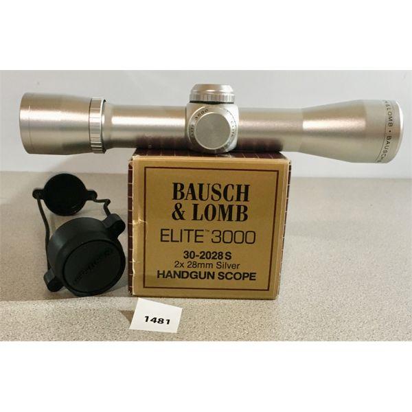 BAUSCH & LOMB ELITE 3000 2X28 HANDGUN SCOPE