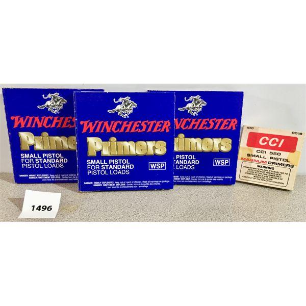 PRIMERS: 300X WIN SM PISTOL STD & 39X CCI SM PISTOL MAGNUM