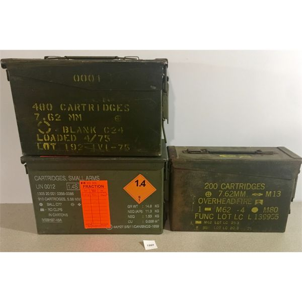 3X AMMO CANS
