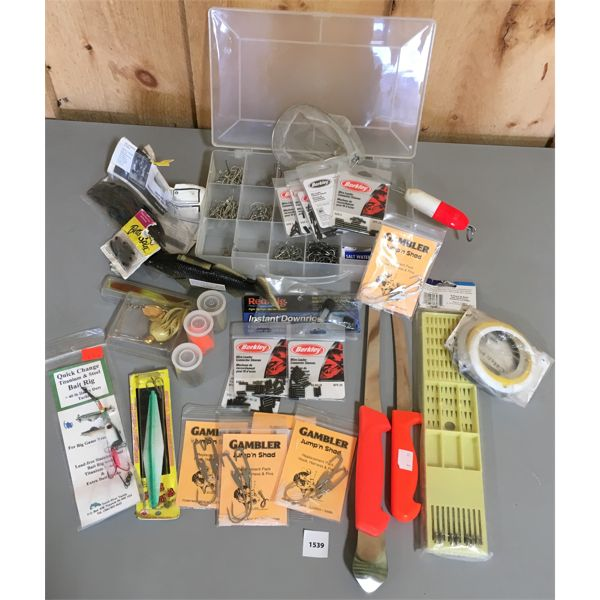 JOB LOT - FISHING TACKLE, HOOK HOLDER, FILET KNIFE, ETC