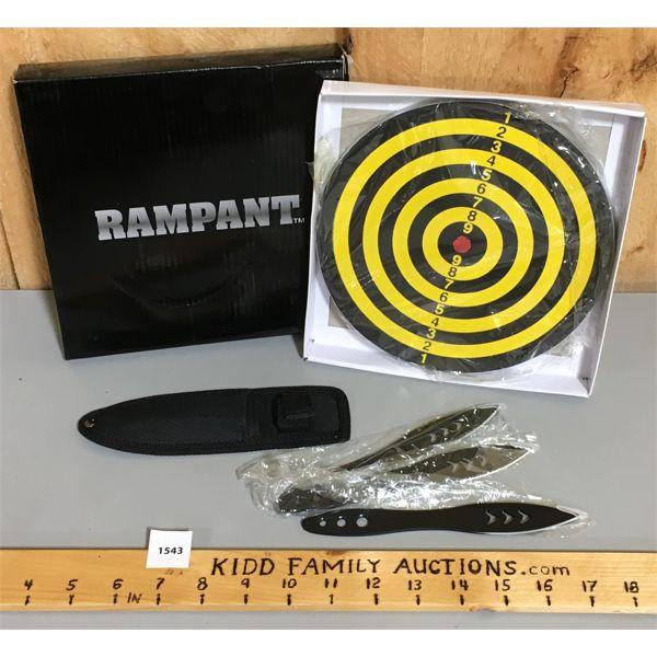 RAMPANT TROWING KNIFE KIT - AS NEW