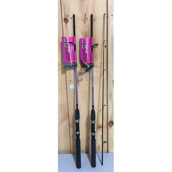 LOT OF 2 - LADIES STRICK GT FISHING RODS - AS NEW