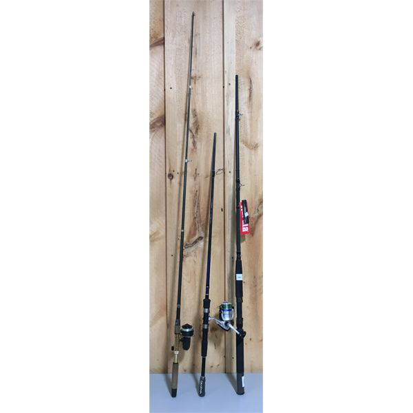 LOT OF 3 - MISC FISHING ROD PART & REELS - RAPALA AS NEW