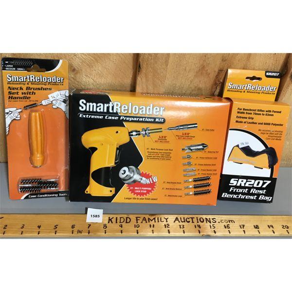 LOT OF 3 - SMART RELOADER - BRUSHED, PREP KIT, BENCHREST BAG