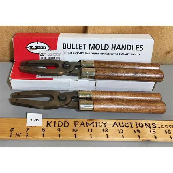 LOT OF 2 - LEE BULLET MOULD HANDLES - AS NEW