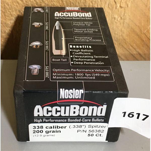 50 X ACCUBOND .338 CAL 200 GR BULLETS
