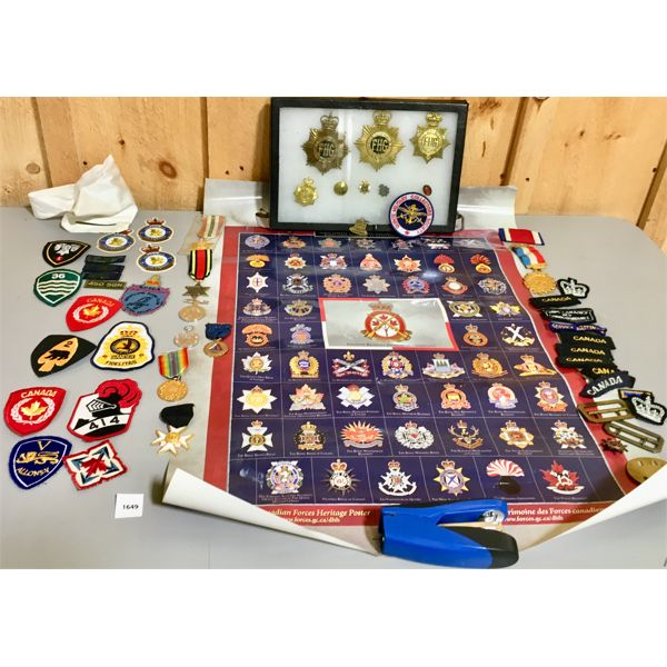 LOT OF CANADIAN MILITARY PATCHES & REPRO MEDALS