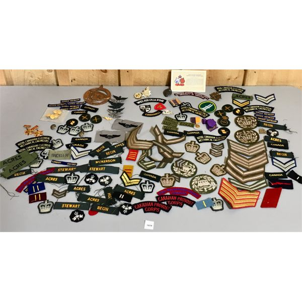 LARGE LOT OF MISC CANADIAN MILITARY PINS & PATCHES