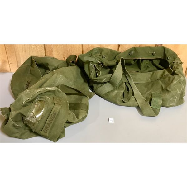 2X LARGE MILITARY CANVAS BAGS