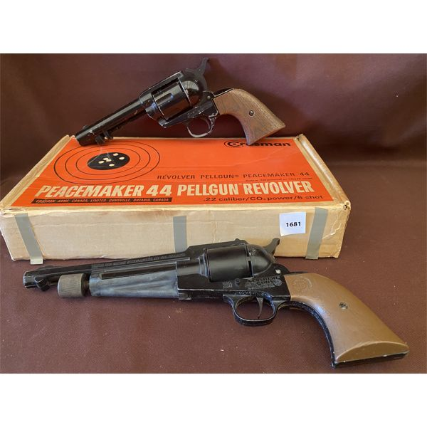 LOT OF 2 - CROSMAN .22 CAL PELLET GUNS - NO PAL REQUIRED