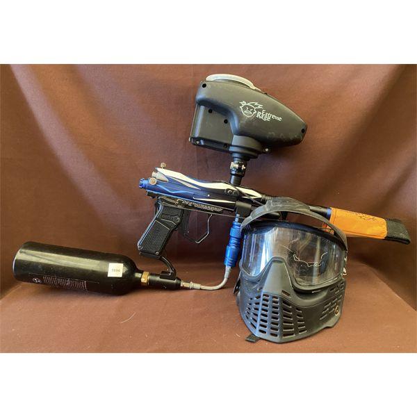 SPYDER ELECTRA MODEL PAINT BALL GUN & HELMET