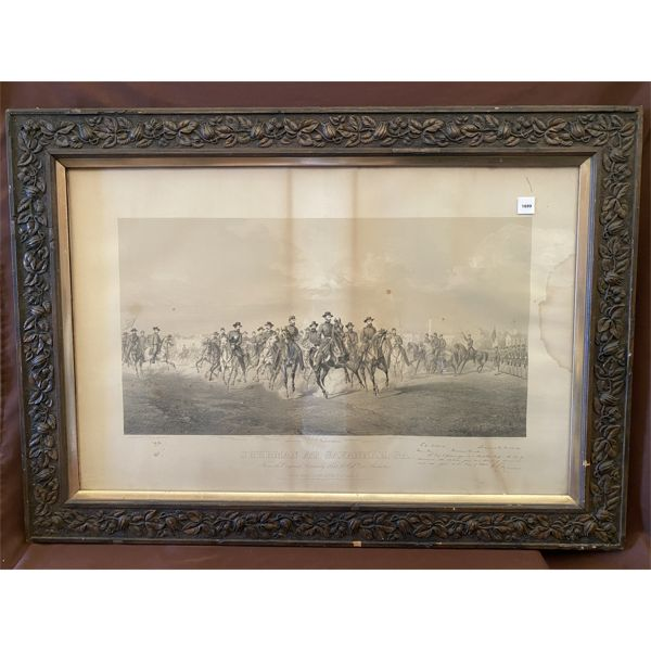 SHERMAN PRINT - SIGNED & DATED 1864 - 27 X 38 INCHES