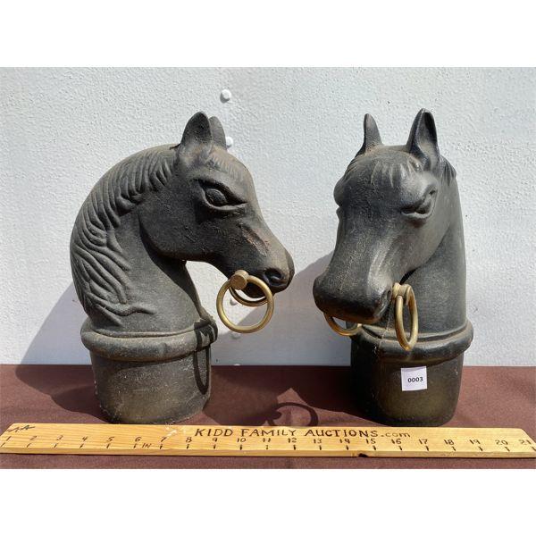 CAST POST MOUNTS - HORSE DESIGN