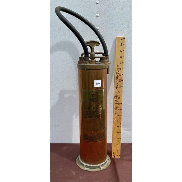 'FYR-FYTER' DUPLEX PUMP - COPPER / BRASS FIRE EXTINGUISHER