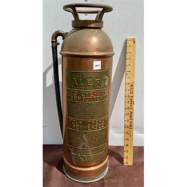 COPPER / BRASS 'ALERT' FIRE EXTINGUISHER