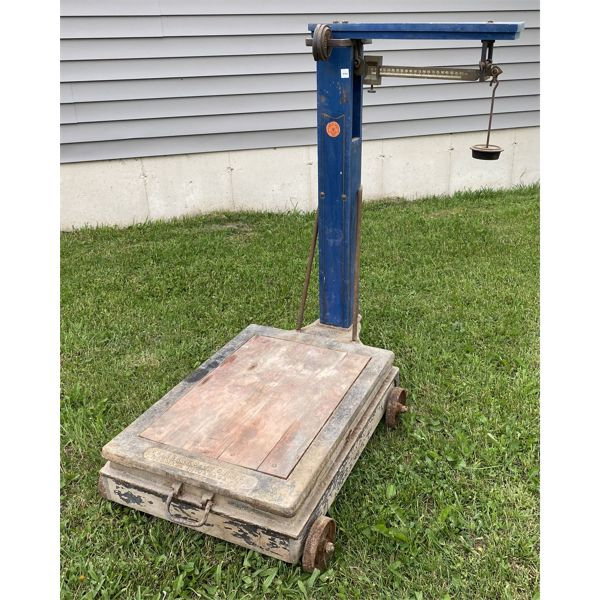 FAIRBANKS GRAIN SCALE W/ WEIGHTS - VG CONDITION