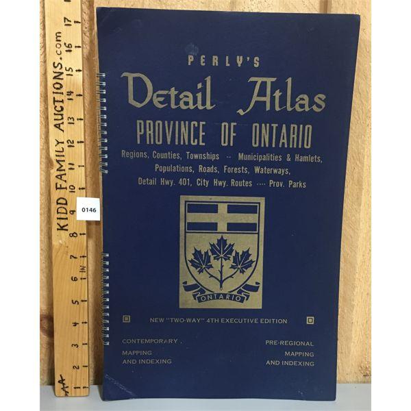 PERLY'S PROVINCE OF ONTARIO ATLAS 1978