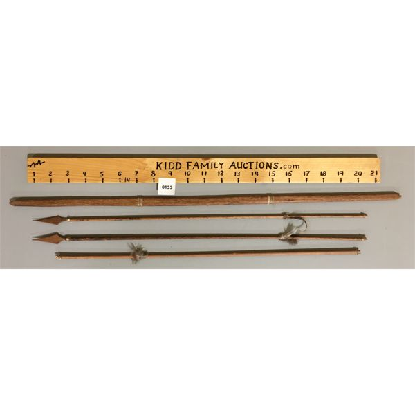 """SMALL PRIMITIVE BOW AND ARROWS - 23"""" LONG"""