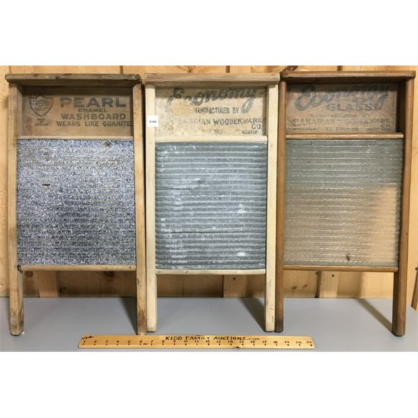 LOT OF 3 - WASH BOARDS