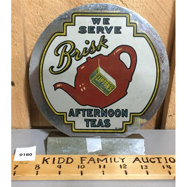 LIPTONS TEA COUNTERTOP DISPLAY, METAL