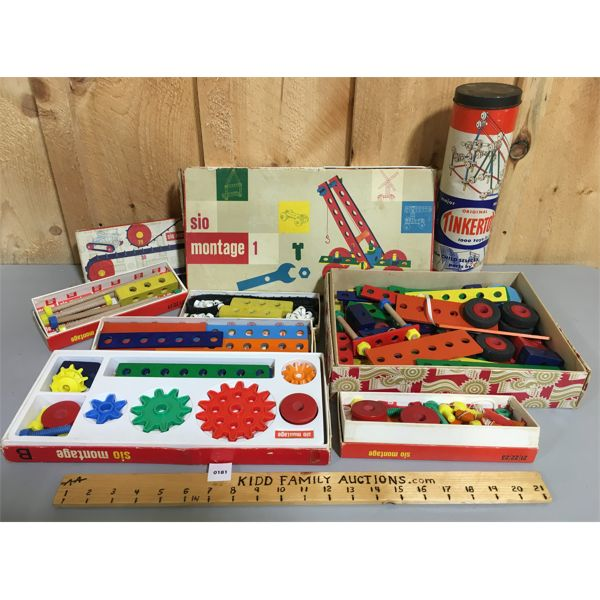 JOB LOT OF SIO MONTAGE BUILDING KITS & TINKER TOYS