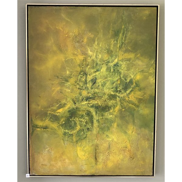 """OIL ON BOARD ABSTRACT ART - 37"""" X 49"""""""